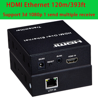 HDMI Extender 100m 393ft Rj45 Cat5e Cat6 Transmitter And Receiver Supported 3d HD1080p Free Shipping