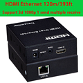 HDMI extender 100m rj45 cat5e cat6 1080p 3D,can connect to the network switch,support one transmitter to multiple rdceive
