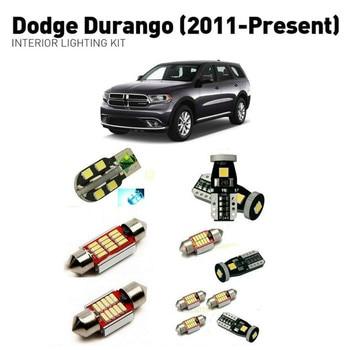 Led interior lights For Dodge durango 2011+  15pc Led Lights For Cars lighting kit automotive bulbs Canbus