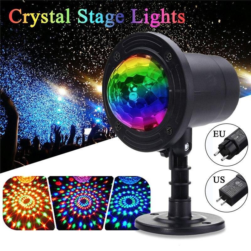 Smuxi RGB LED Crystal Magic Rotating Ball Stage Light 2.8m USB 4W Colorful KTV DJ Light Disco Light Party Effect Light led rgb 15w 2 in 1 rotating magic ball stage light