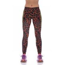 NEW KYK1076 Sexy Girl Women Volcanic Fire 3D Prints High Waist Running Fitness Sport Leggings Jogger