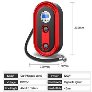 Image 2 - Mini pompe à Air Portable pour véhicule, compresseur dair pour véhicule, arrêt automatique et éclairage durgence pour véhicule, outil de réparation