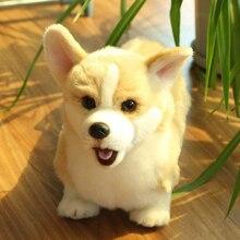 32CM Lovely Simulation Dog Kids Dolls Corgi Stuffed Pet Soft Animal Toys For Children Birthday Gift Decor Collection Brinquedos