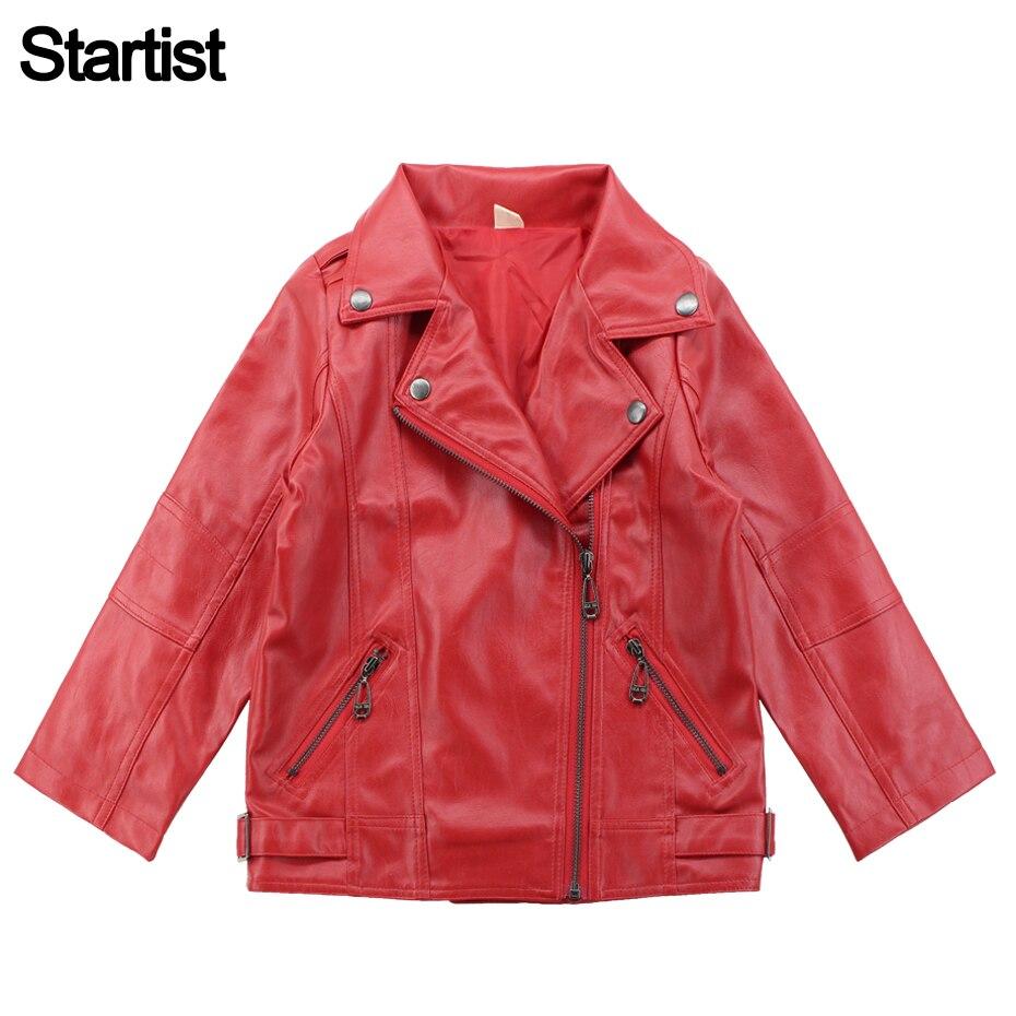 2019 Neuer Stil Leder Jacke Für Mädchen Langarm Jacke Mädchen Frühling Herbst Kinder Leder Oberbekleidung Teen Kleidung Für Mädchen 12 14 Jahre HeißEr Verkauf 50-70% Rabatt