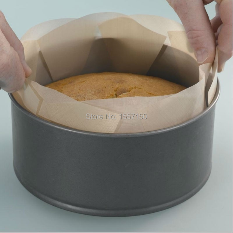 Free Shipping 12 Round Ptfe Non Stick Cake Tin Liner Non Stick For Baking Pan Sheet Ptfe Liner Made In Saint Gobain