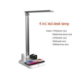 4 In1 Беспроводной Зарядное устройство Led Настольная лампа Luminaria Многофункциональный Светодиодный Настольные лампы 5 W Touch настольная лампа