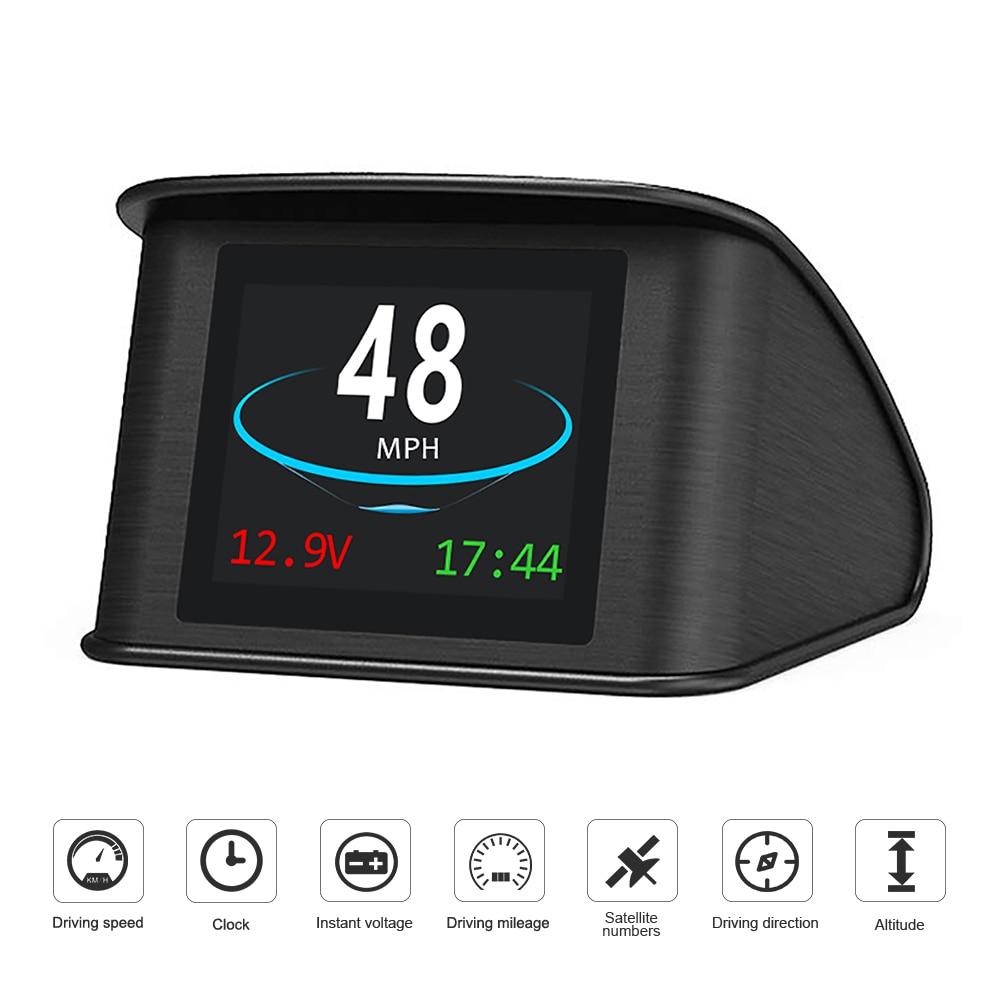Universel Voiture HUD Head Up Display Affichage De La Vitesse KM//H MPH C80 Num/érique Compteur De Vitesse GPS pour V/élo//Moto//Voiture Well Made josietomy GPS HUD Speedometer avec C/âble USB