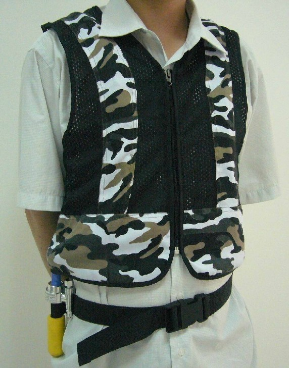 Air Cooling Vest : Xfluid vortex cooling vest cool air assembly