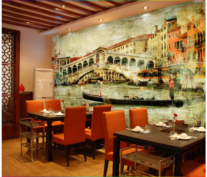 3d wallpaper custom photo non-woven picture Vintage town of Venice 3d wall murals wallpaper for wall room decoration painting