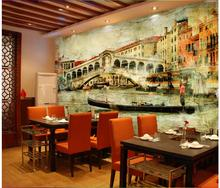 3d wallpaper custom photo non-woven picture Vintage town of Venice 3d wall murals wallpaper for wall room decoration painting 3d wallpaper custom photo non woven picture retro rose floor mural back painting 3d murals wallpaper room decoration wallpaper