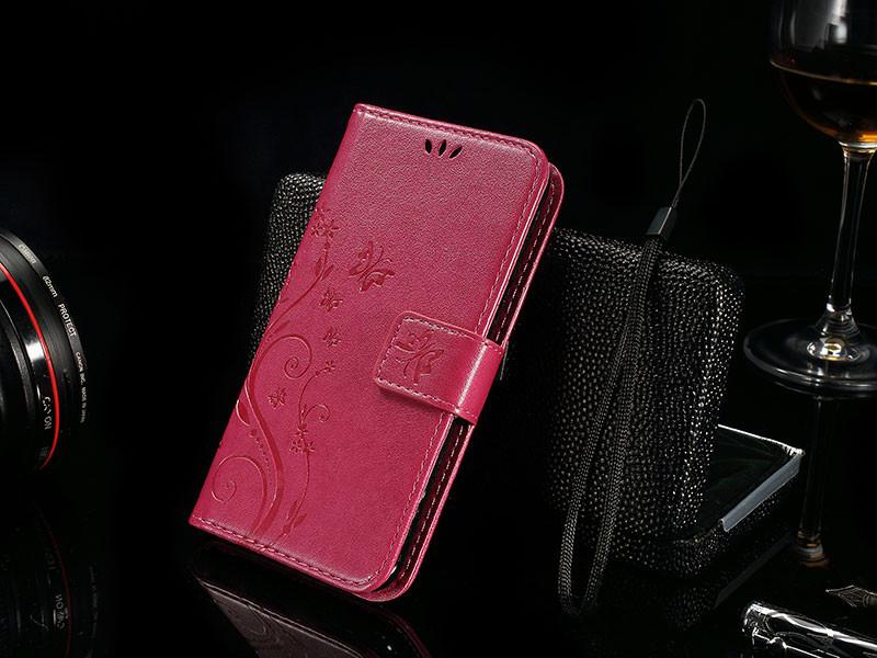 Dla microsoft nokia lumia 640 lumia 630 lumia 550 worek nadrukowane butterfly pu wizytownik skórzany telefon okładka case shell 13