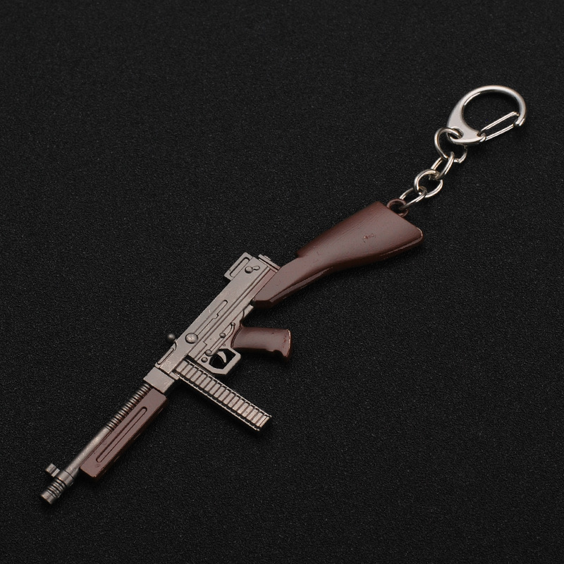 2019PUBG Keychain game eat chicken new weapon model pendant Keychain eat chicken game peripheral 12cm Internet cafe gift Key rin in Key Chains from Jewelry Accessories