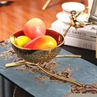 Высокое качество Европейский творческий Чистая медь металл закуски лоток для хранения фруктов чаша Конфетница высококлассные роскошные Б