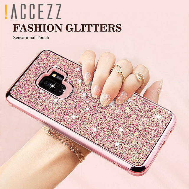 buy online 81943 86e21 US $4.92 |Glitter Sequins Powder Case For Samsung Galaxy S9 S9 Plus Shiny  Bling Protective Girly Back Cover For Galaxy S9plus Coque Fundas-in Fitted  ...