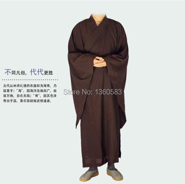 Буддийский монах одежды высокое качество мужская одежда китайский известный бренд дзен буддийский монах медитация одежда haiqing шаолинь одежда