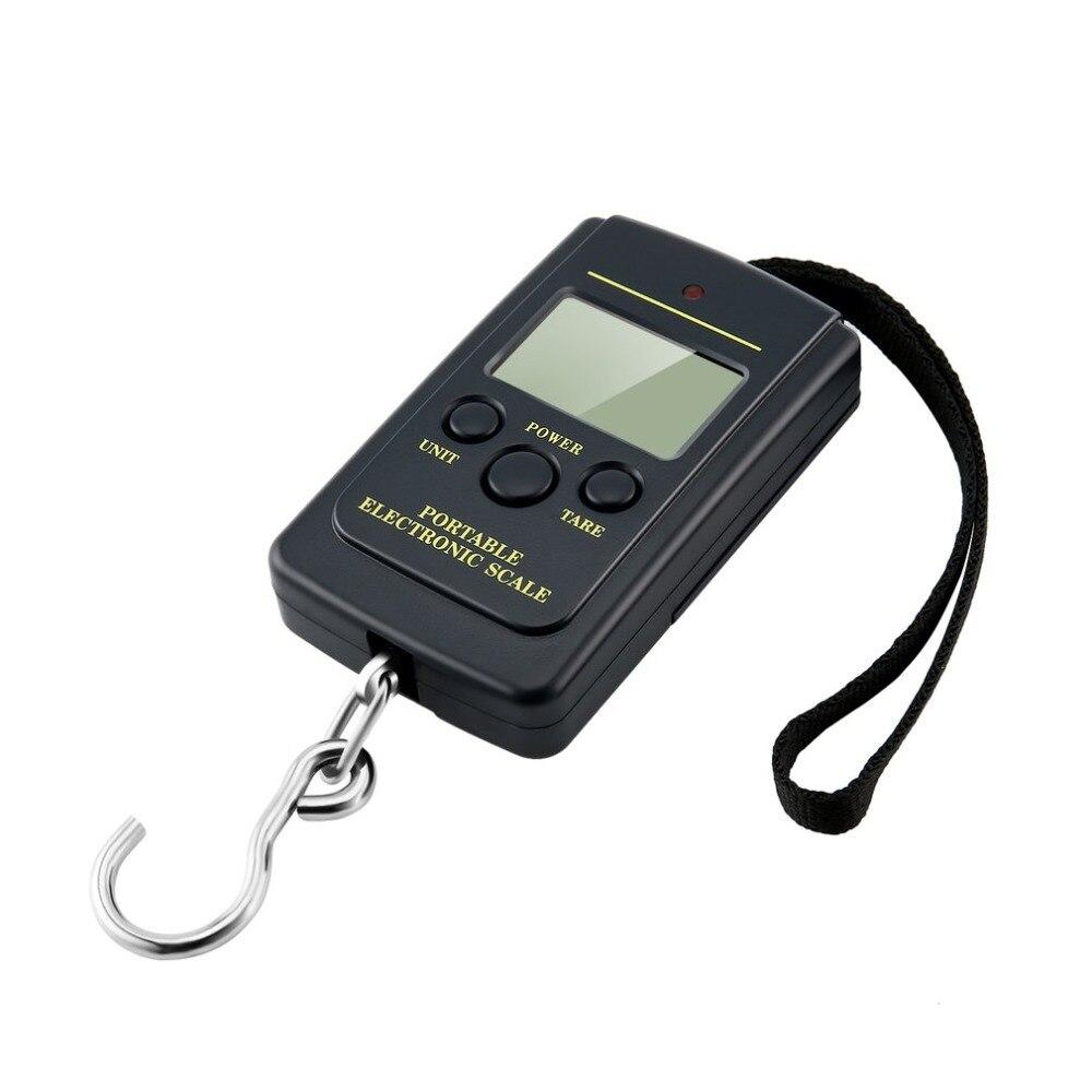 Портативная Максимальная нагрузка 40 кг LCD Мини-карманы цифровые весы вес Steelyard багажные весы рыболовные Весы электронные подвесные весы