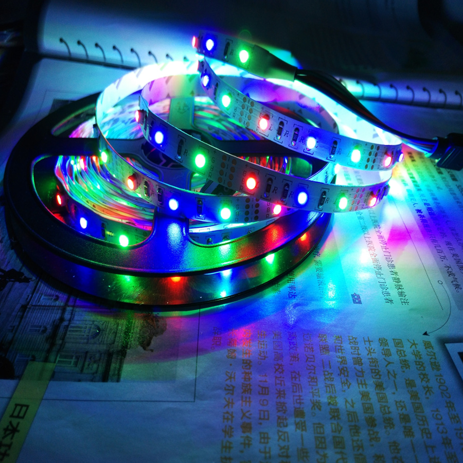 USB Plug DC5V 6V RGB LED strip light SMD 3528 Non waterproof LED ...