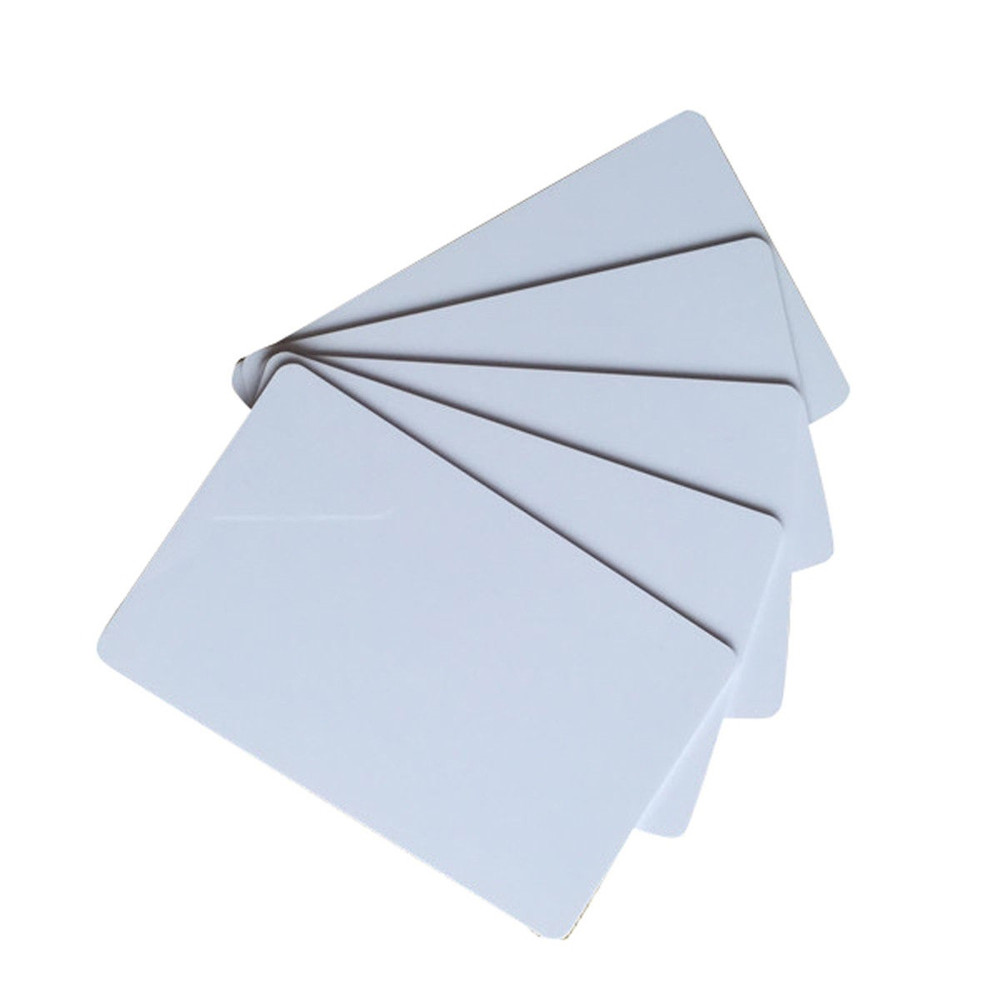 100Pcs/Lot RFID 125KHZ Writable Card Em4305 Blank White Writable Rewrite EM ID Proximity Access Control Card 5pcs lot free shipping outdoor 125khz em id weigand 26 proximity access control rfid card reader with two led lights