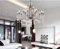New Modern 15 Arm Crystal Chandelier Pendant Lighting With Crystal Beads And In Black Guaranteed100 Free