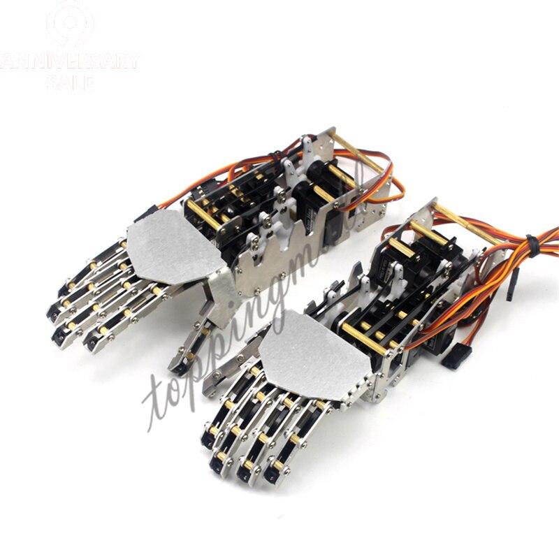 5DOF Robot manipulador de Metal humano cinco dedos antropomorfo izquierda + mano derecha con GS9018 Servo 50% de descuento-in Partes y accesorios from Juguetes y pasatiempos    1