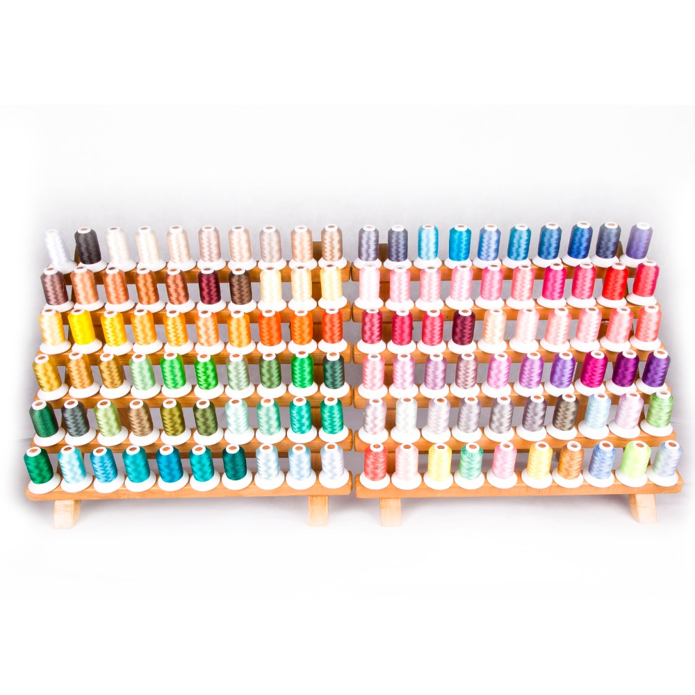 Popular Simthread 120 colors Polyester Embroidery machine thread 1100 Yards Each as home machine embroidery thread
