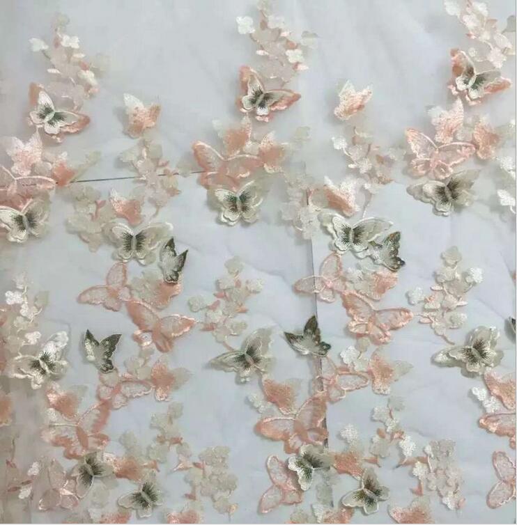 5 yard Neue 3D Schmetterling Blume Net Garn Blume Stickerei Spitze - Kunst, Handwerk und Nähen - Foto 6