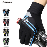 จักรยานถุงมือขี่จักรยานWindproofถุงมือยาวสีเขียวขี่Ciclismoฤดูหนาวหน้าจอสัมผัสกันกระแทกถุงมือ