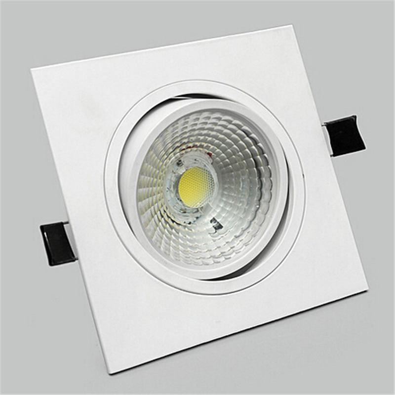 AC85-265v čtvercový 10w / 15w stmívatelný cob led stropní lampa - Vnitřní osvětlení