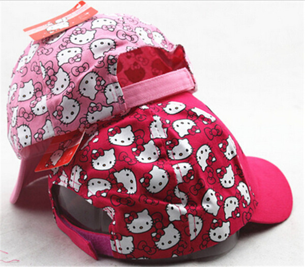 2016 милый мультфильм котенок дети Бейсбол Кепки для маленьких мальчиков Обувь для девочек Защита от солнца Hat регулируемые дети хип-хоп Кепк...