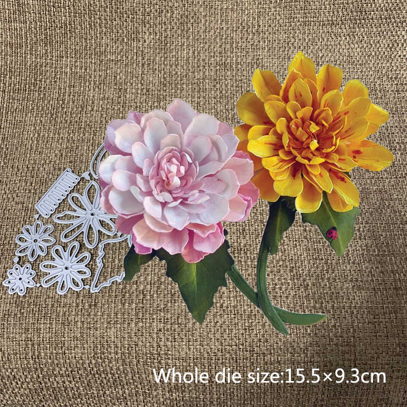 Petal Flower Metal Cutting Dies Scrapbooking Embossing Craft Album Decor Mold