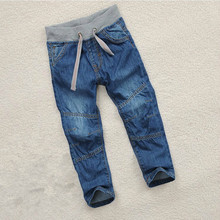 лучшая цена Spring Autumn Children's Clothing Baby Boys Jeans Pants Denim Cotton Kids Blue Trousers Casual 2T 3T 4 5 6 7 8 9 10 Years Old