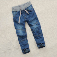 Spring Autumn Children's Clothing Baby Boys Jeans Pants Denim Cotton Kids Blue Trousers Casual 2T 3T 4 5 6 7 8 9 10 Years Old