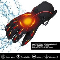SAVIOR Heat Heated Glove Back and left side with reflective strips designed for skiing outdoor sports heated gloves