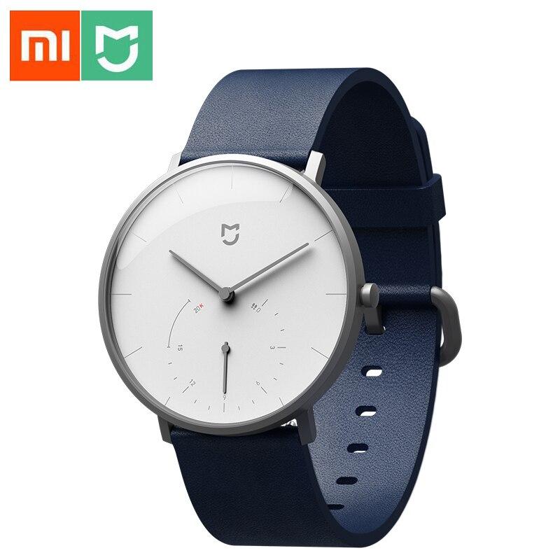 Xiao mi mi jia montre à Quartz intelligente podomètre étanche Smartband Bluetooth 4.0 mi Smartwatch temps d'étalonnage automatique