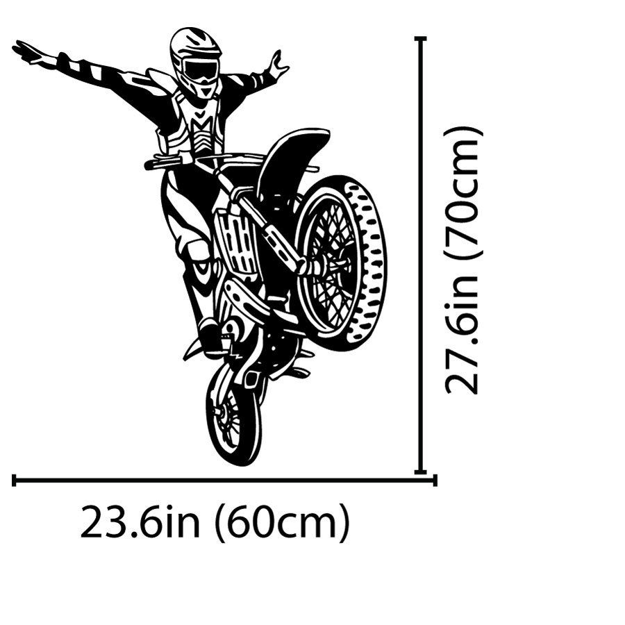 Sepeda Motor Trail Motor Motorcross Stunt Dinding Decal Dekorasi