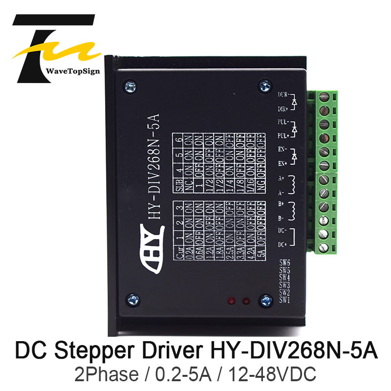 WaveTopSign TB6600 Stepper <font><b>Motor</b></font> <font><b>Driver</b></font> HY-DIV268N-<font><b>5A</b></font> 2Phase Hybrid Using <font><b>DC</b></font> 12 ~ 48V for Engraving Machine & Cutting Machine image