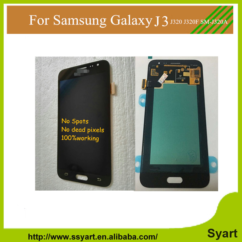 5.0 inch 10PCS LCD Display complete for samsung J3 Touch Screen Digitizer Assembly For Samsung Galaxy J3 J320 J320F SM-J320A DHL