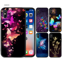 Butterfly Dancing Girl Black Rubber Silicone Case Cover for iPhone X XS XR XS 11 11Pro Max 7 8 6 6S 5 5S 5C SE Plus Fundas Capa(China)