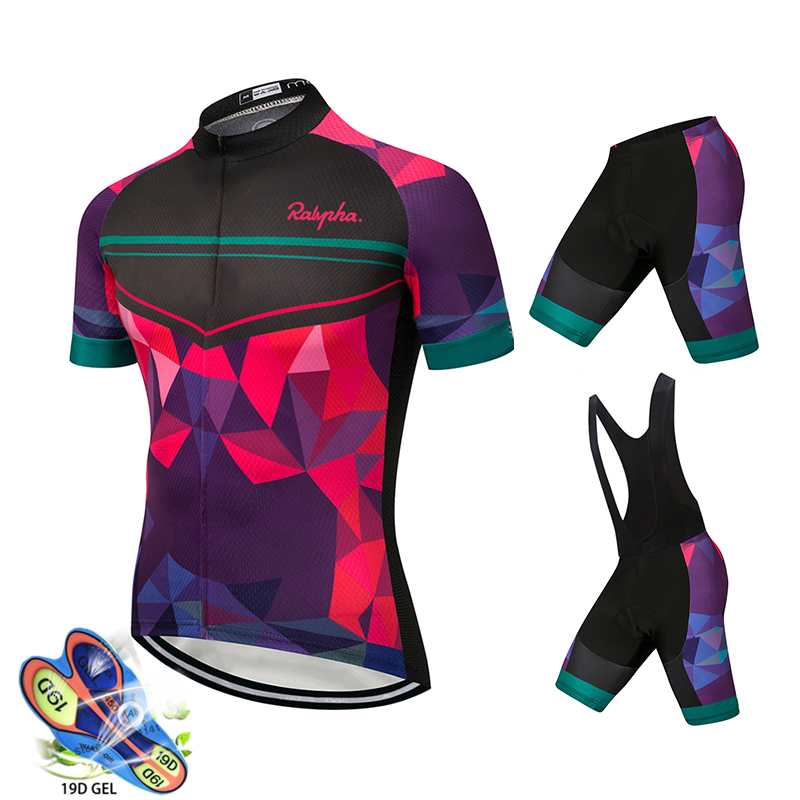 Ralvpha Summer Women MTB Bike Cycling Clothing Breathable Mountian Bicycle Clothes Ropa Ciclismo Quick-Dry Cycling Jersey Sets