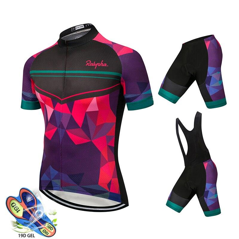 Ralvpha Verão Mulheres MTB Bicicleta Roupas de Ciclismo Mountian Bicicleta Roupa Ropa ciclismo Quick-Seco Respirável Ciclismo Jersey Conjuntos
