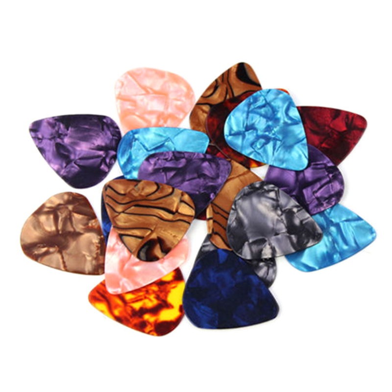New 20x 0.46mm/0.71mm Colorful Celluloid Guitar Picks plectrum For Guitar Bass