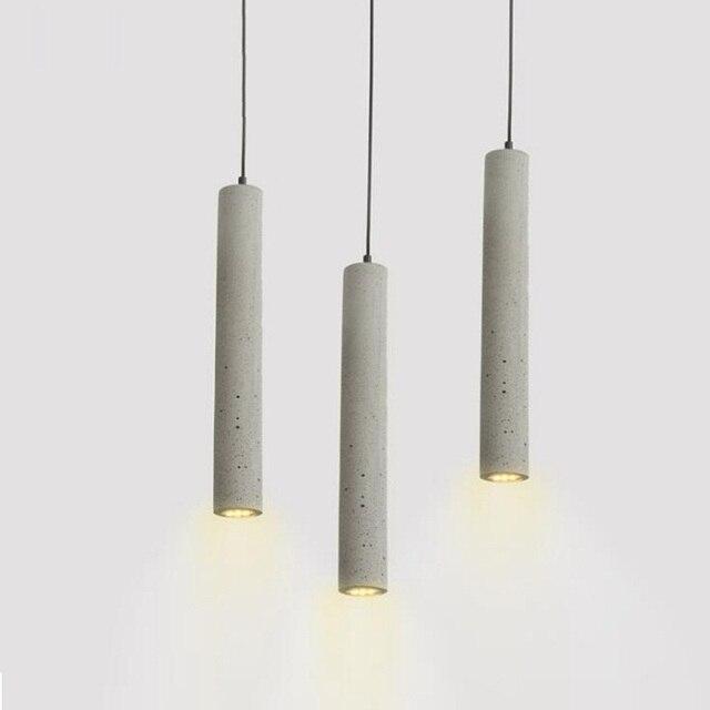1 unid LukLoy Moderno Luces Pendientes Lámpara Industrial de Cemento ...