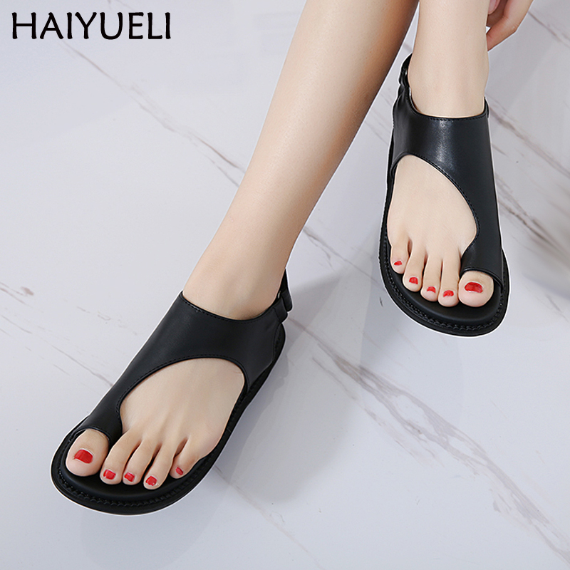 Vogue Leisure Flip Flops Summer Sandals Casual Women Platform Shoes Comfort Soft Thick Bottom Women's Flat Sandals Black Shoes