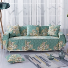 100% Cotton High Quality Slipcover Sofa Cover Furniture Couch Settee Protector for 1/2/3/4 Seater Sofa Covers for Living Room недорого