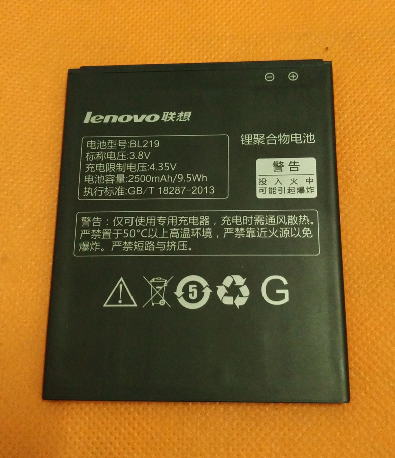 100% original <font><b>battery</b></font> Batterie Batterij Bateria 2500mAh for <font><b>Lenovo</b></font> <font><b>A916</b></font> MTK6592 Octa Core 5.5&#8243; HD 1280&#215;720 4G LTE