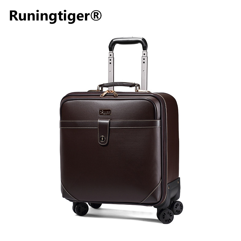 цена на Luxury Men Women 's Travel Luggage leather suitcase Waterproof PVC leather Box with Wheel ,162024 inch Rolling Trolley case