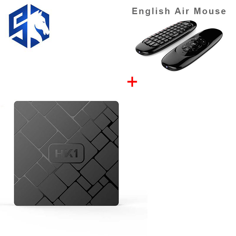 Android 7.1 HK1 TV BOX 2 gb 16 gb Amlogic S905W Quad Core Smart TV Box Set Con C2 Aria mouse H.265 4 k HDMI 2.4g WiFi Media Player