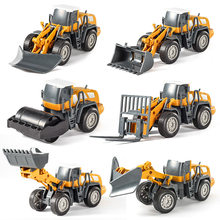 New DIY Assembly Large Simulation Inertial Engineering Vehicle Model Bulldozer Road Roller Excavator Car Toy(China)