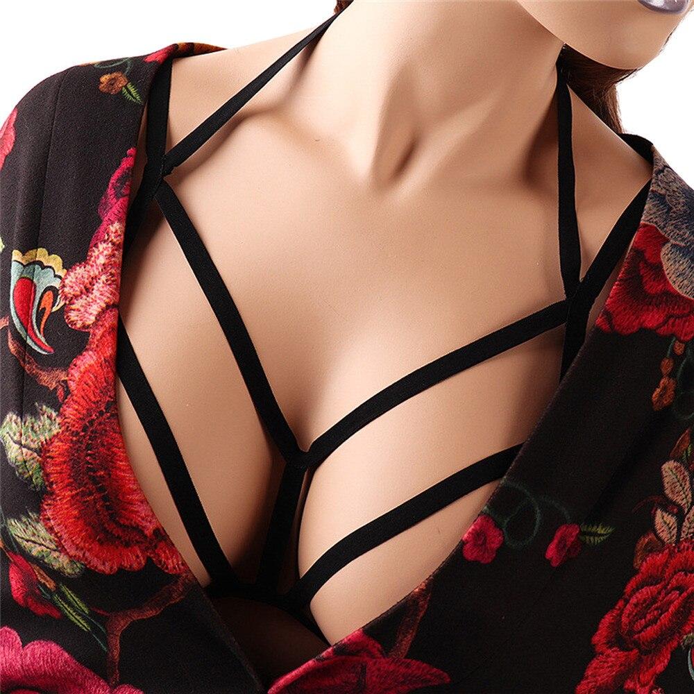 JAYCOSIN סקסי הלבשה תחתונה נשים חלול החוצה אלסטי כלוב חזיית ליידי תחבושת רצועות הלטר חזיית Bustier למעלה Bralette תחתוני D30 Apr6