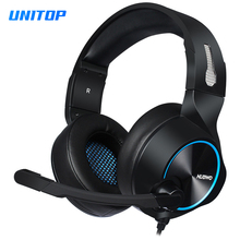 Gaming Headphones Headsets Stereo Deep Bass Noise Canceling Earphones with Microphone for Laptop/Tablet/ps4 Gamer/PC Computer цена 2017